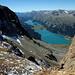 Lac de Silvplana et au fond le lac de Sils