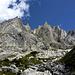 Wieder auf dem Rückweg: Ein letztes Mal die Gipfel über dem Ochsental.<br />(vermutlich)