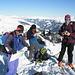 Fabiano, Giuliano e Felice sulla vetta del Mittaghorn
