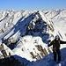 Davis auf den letzten Meter Fussaufstieg zum höchsten Punkt des Gletscher Ducans / Ducan Dador (3020m).