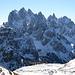 An der Forcella Col di Mezzo erhaschen wir einen ersten Blick auf die Cadinspitzen