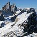 Die Aussicht von der Oberbachernspitze zu den Zinnen ist fantastisch
