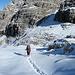 ... einzigen Menschen und machen überall die erste Spur im Schnee.
