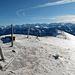Der eigentliche Gipfel vom Miesenstock, Blick auf den Grat zum Abstieg. Die letzte Ecke rechts umgehen!