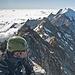 Gipfel, Weissmies Nordgrat im Hintergrund