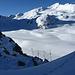 Pas de Chèvre mit Blick auf den Glacier de Cheilon