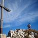 Kletterzeug wegpacken am Plattnitzer Jochspitze Ostgipfel