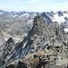 Im Vordergrund Gross Litzner, links am Horizont Piz Fenga / Fluchthorn, rechts Silvretta