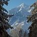 im Aufstieg: kurz wird  wieder das Weisshorn sichtbar