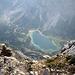 Abstieg von Sonnenspitze, Blick auf Seebensee