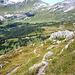 Fernziel Engstlenalp (nahe der Bildmitte hinten), weiter rechts vorne die Scharmad-Alpe.