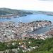 Aussicht vom Floyen nach Bergen