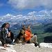 Gipfelfoto mit Vierbeiner Rondell
