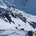 Die Passage zum Gipfel an der die Ski getragen werden
