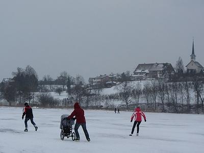 So einigermassen gings zum Schlittschuhlaufen