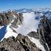 Blick hinüber zum Fletschhorn und zu den Berner Alpen