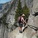 Il passaggio un po'esposto per scendere al punto panoramico dove inizia il salto della cascata.
