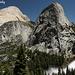 Da sinistra: Half Dome, Liberty Cap e Nevada Fall visti dal John Muir Trail al rientro.