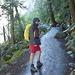 Mauro imbacuccato per affrontare il tratto di sentiero che ci condurrà al top della Vernal Fall...very wet!
