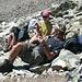 Rast beim Klettersteigeinstieg