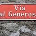 Der mächtige Monte Generoso gab der Strasse durch den Dorfkern von Rovio seinen Namen.