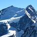 Das Nordend 4609m (links) und die Dufourspitze 4634m (rechts)