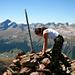 Ich suche das Gipfelbuch auf dem Piz Utèr, erfolglos