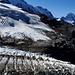 Rottalgletscher à deux pas du chemin. Grosshorn et Breithorn