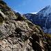 Sentier équipé, non loin de la Rottalhütte