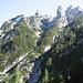 Hier, in der vorderen Kreuzklamm beginnt der Kletteraufstieg l - ll.