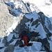 Einige Kletterstellen kurz vor dem Gipfel