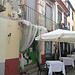in der Rua de Santa Maria wird schon gedeckt