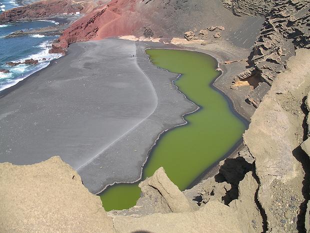 """Der smaragdgrüne See (Lagune) """"Charco de los Clicos"""""""