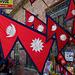 Die Fahne von Nepal – mal nicht so langweilig rechteckig wie bei allen anderen
