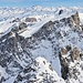 Sulzfluh und zwei Drusentürme mit Gipfelkreuzen