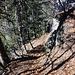Im Abstieg, [u Axi] kurz vor der Felsstufe