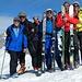 schöner gemeinsamer Skitourenwochen-Abschluss auf dem Spitzenbüel