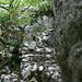 Einstiegsverschneidung in den unteren Felssporn