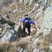 Facile arrampicata verso la Cima Fontanaccia