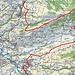 Ungefähre Route Wasserauen-Hirschberg-Meistersrüte A