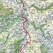 Ungefähre Route Wasserauen-Hirschberg-Meistersrüte B