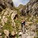 der Valslochweg ermöglicht den einfachen Übergang Nord - Süd und führt direkt zum Chäserrugg 2262m hinauf