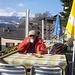 Startkafi und Gipfeli in der Sonnenhalde...wie könnte es auch anders sein...