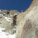 [u Mauronster] in azione su un passaggio su roccia