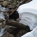 Schneewächten in der Weißach