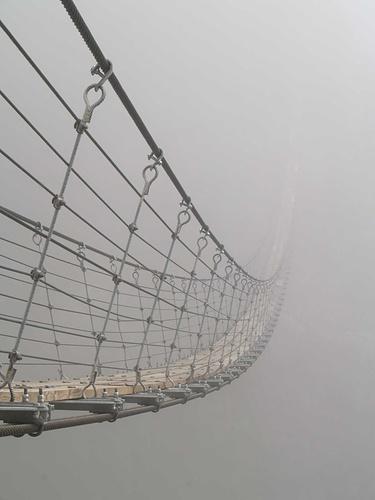 Triftbrücke im dicken Nebel