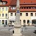 Stolpen, Markt, Kursächsische Postmeilensäule (Distanzsäule)