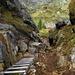 Passage équipé entre le Hohgant West et le Trogenhorn