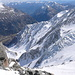 ghiacciaio del fletschorn dall' alto