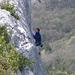 Klettern in Eiseskälte irgendwo in Südfrankreich